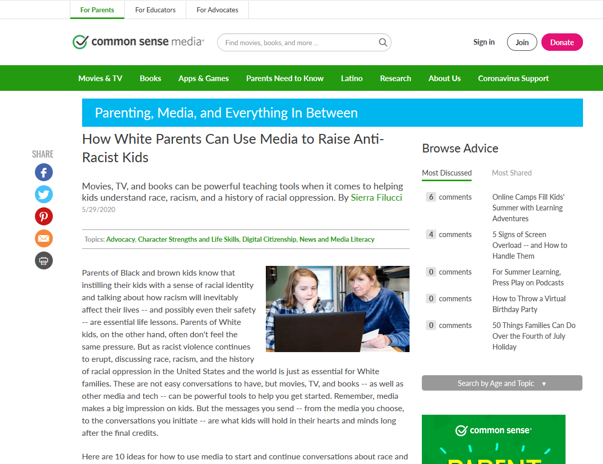 How Parents Can Use Media to Raise Anti-Racist Kids